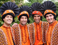 about four by four bhangra dancers